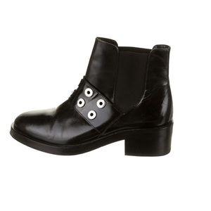 Sandro Black Leather Metal Boots